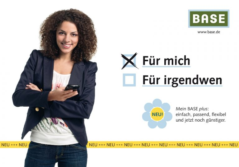 Petra Base Werbung mit Text